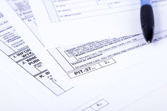 Tax declaration pit Royalty Free Stock Photo