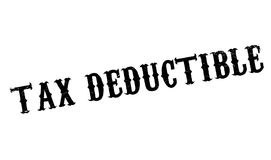 Tax Deductible rubber stamp Stock Photo