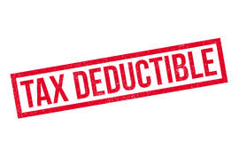 Tax Deductible rubber stamp Stock Photos