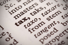 Tax Defined Stock Photography