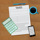 Tax design flat Royalty Free Stock Images