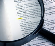 Tax in dictionary Stock Photography