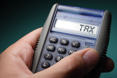 Tax display Stock Image
