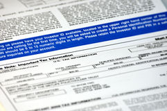 Tax document Stock Photography