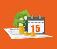 Tax document design Stock Photo