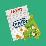 Tax document design Stock Photography