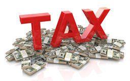 Tax on dollar currency Royalty Free Stock Photos