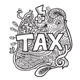 Tax doodle Stock Images