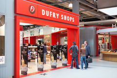 Tax and duty free shops Stock Images