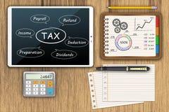 Tax economy refund money Royalty Free Stock Images