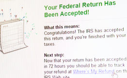 Tax eFiling Confirmation Stock Photos