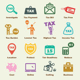 Tax elements. Vector infographic icons Stock Photography