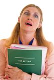 Tax Exhaustion Stock Photo