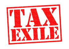 TAX EXILE Stock Photo