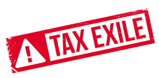 Tax Exile rubber stamp Royalty Free Stock Photography
