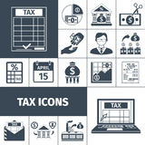 Tax And Fees Flat Icon Set Royalty Free Stock Photo