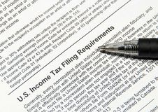 Tax filing requirements Stock Images