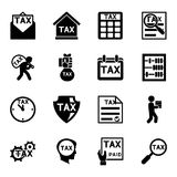 Tax and finance icons vector set. Taxation and accounting, payment and business illustration Stock Images