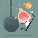 TAX. Financial crisis in tax burden concept Stock Photography