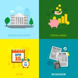 Tax flat set Royalty Free Stock Images