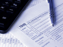 Tax form 1040 Royalty Free Stock Images