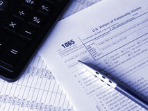 Tax form 1065 Stock Photos