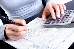 Tax Form Stock Images