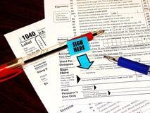 Tax Form Royalty Free Stock Photos
