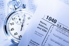 Tax form Royalty Free Stock Image