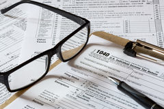 Tax form Stock Photos