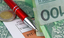 The tax form Stock Image