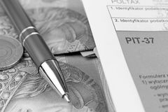 The tax form. Royalty Free Stock Images