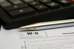 Tax form Stock Photography