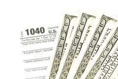Tax form business financial concept Stock Photography