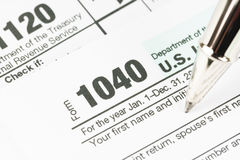 Tax form business financial concept Stock Image