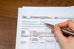 1040 tax form Stock Photo