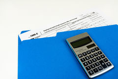 Tax Form 1095-C, Tax Form Details with Light Background Stock Image