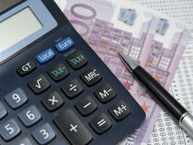 Tax form calculator Royalty Free Stock Image