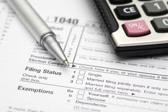 Tax Form Royalty Free Stock Photo