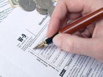 Tax form filling Royalty Free Stock Image