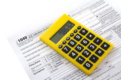 Tax form 1040 Stock Image