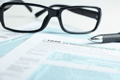 Tax form financial concept Stock Image