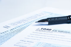 Tax form financial concept Royalty Free Stock Photos