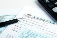 Tax form financial concept Stock Photo