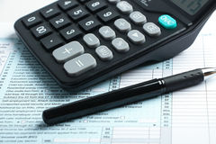 Tax form financial concept Stock Photography
