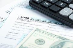 Tax form financial concept Stock Photos