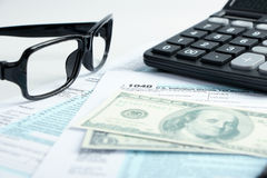 Tax form financial concept Royalty Free Stock Photo