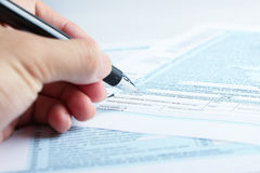 Tax form financial concept Royalty Free Stock Photography