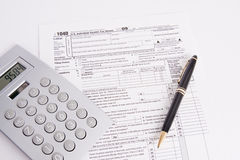 Tax Form Pen and Calculator Royalty Free Stock Photography