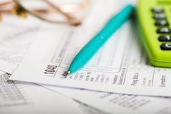 Tax form Stock Photos